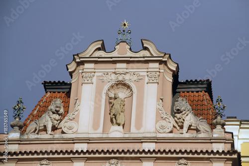 In de dag Praag Praga