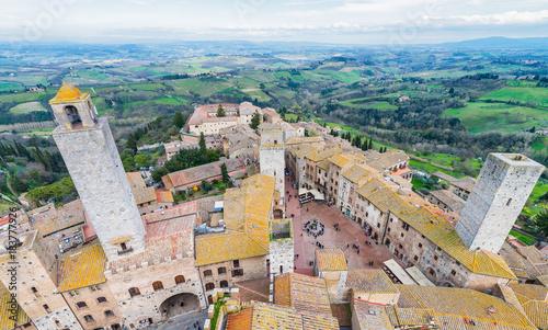 Fotobehang Toscane Medieval towers of San Gimignano, Tuscany