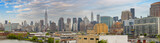 Midtown Manhattan eastern side panorama. Wonderful hi-res view from Brooklyn on a cloudy day - 183784968