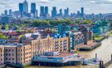 London, UK. City skyline along river Thames - 183786751