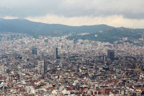 View of Barcelona from Montjuic fort Poster