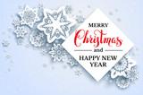 White snowflakes background-01 - 183788355