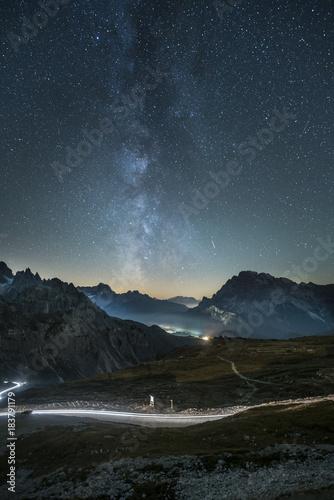 Aluminium Nachtblauw Milchstrasse Südtirol