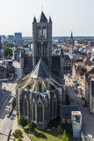 View of the historic city of Ghent, Belgium - 183794737