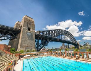 SYDNEY - OCTOBER 2015: Sydney Harbour Bridge. Sydney attracts 30 million people annually