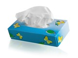 Blue Tissue Box - 183809767
