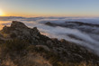 Quadro Sunrise clouds in the Santa Susana Pass above the San Fernando Valley in Los Angeles, California.