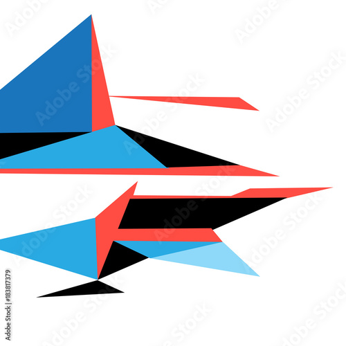 Plexiglas Abstractie Bright color abstract shape from triangles
