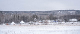Ukrainian ethno village in winter - 183817509