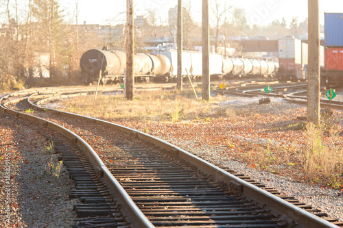 image of railway in sunny day