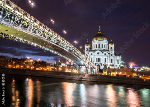 Plexiglas Moskou The Cathedral of Christ the Savior in Moscow