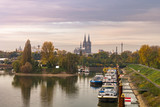 Köln panorama bei Sonnenaufgang - 183855118