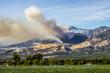 Quadro Thomas Fire Burns Above Fillmore in Ventura County California