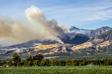 Thomas Fire Burns Above Fillmore in Ventura County California - 183856779