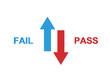 Pass vs Fail Concept- 3D Rendered Image