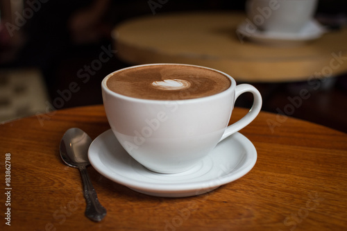 Foto op Canvas Chocolade Tasse de chocolat chaud
