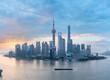 Quadro shanghai skyline panorama