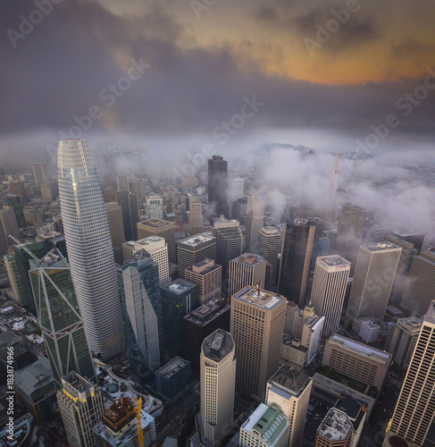 Tuinposter New York san francisco drone