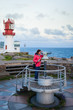 Lookout at Lindesnes Lighthouse in Norway