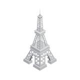 isometric design of Eiffel tower