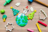 Molding clay for Christmas, Kid education learn and play - 183887147