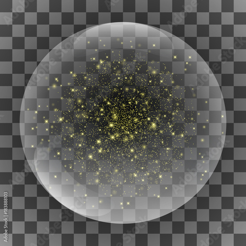 Fototapeta Crystal Glass Sphere Universe. Galaxy Marble. Vector illustration
