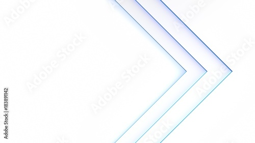 Tuinposter Abstract wave Blue Light pattern grid white background. 3d rendering