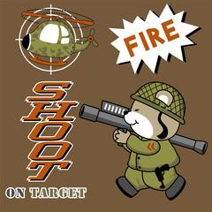 veactor cartoon of shoot a chopper