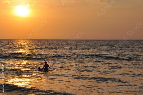 Poster Zee zonsondergang Sea sunset ocean