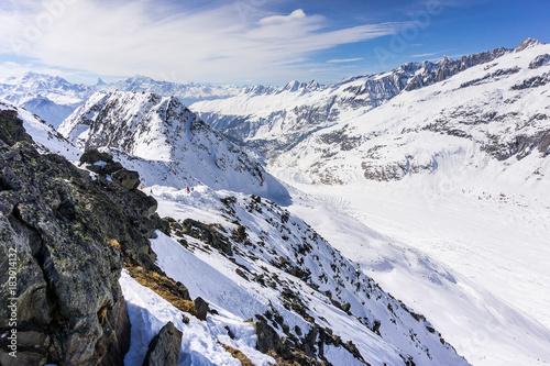 Staande foto Wit Swiss alps
