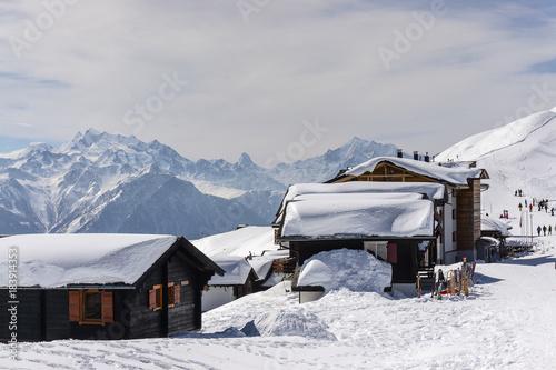 Foto op Canvas Donkergrijs Swiss alps