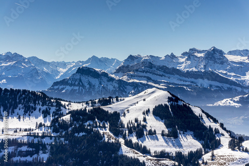 Foto op Aluminium Blauwe jeans Swiss alps
