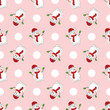 Merry Christmas and Happy New Year Seamless pattern with snowman , illustration vector design - 183917340