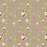 Merry Christmas and Happy New Year Seamless pattern