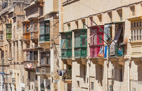 Colorful Balconies in Valletta