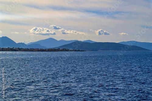 Foto op Canvas Donkergrijs sea landscape with the horizon
