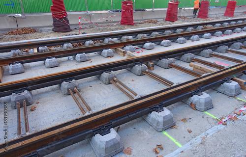 Foto op Plexiglas Spoorlijn voie ferrée