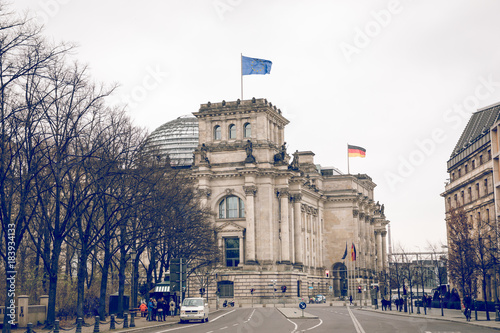 Reichstag building, seat of the German Parliament (Deutscher Bundestag), in Berlin, Germany © Curioso Photography