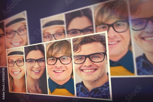 People collage portrait