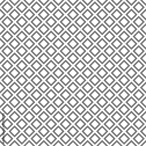 Abstract monochrome square pattern background design - vector illustration