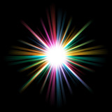 Abstract bright and colorful starburst background. - 183944355