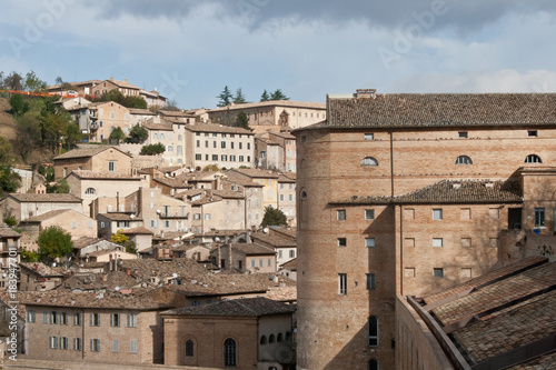 Fridge magnet Urbino houses,castle and roofs