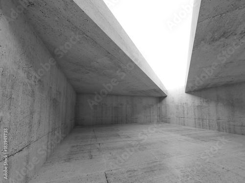 Fridge magnet 3d empty concrete room interior