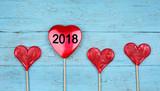 2018 - rote Herzen - 183960581