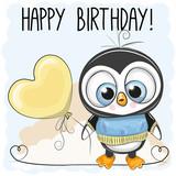 Cute Penguin Boy with a balloon
