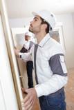 contractor hanging interior door - 183964934