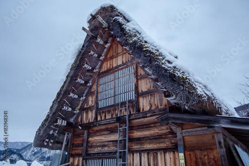Papiers peints Marron chocolat 茅葺屋根
