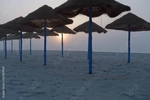 Deurstickers Ochtendgloren Plaża