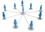 3d Männchen Netzwerk - 183972962