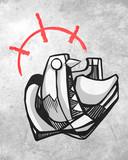 Abstract dove bird design - 183978902